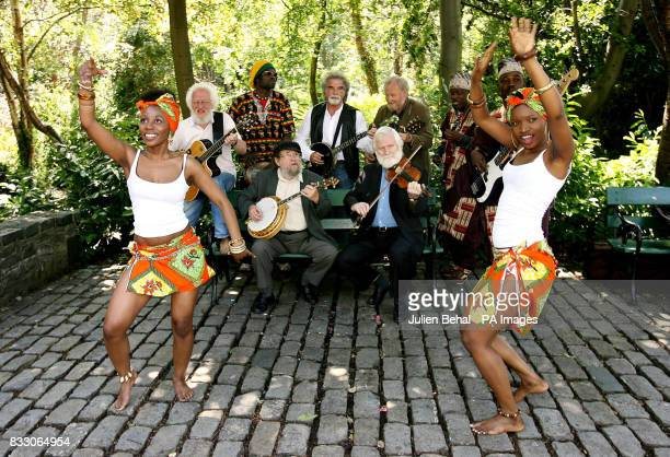 picture of dancer Lucy Hamandishe and Mimita Bofando with members of The Dubliners and Kasai Masai playing together in the background Eamon Cambell...