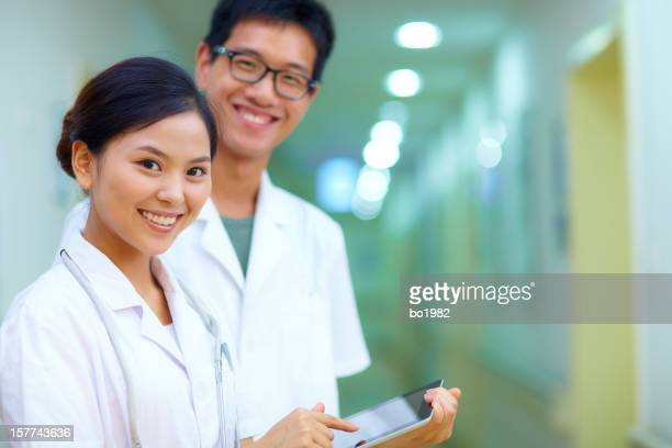 picture of doctor looking at camera smile