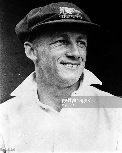 A picture of Don Bradman the legendary Australian cricketer regarded as possibly the greatest batsman that ever lived