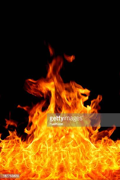 A picture of fire flames on a black background