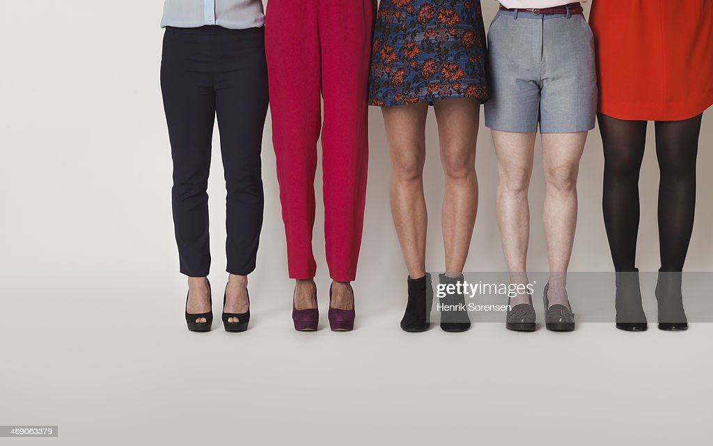 Picture of five women's legs