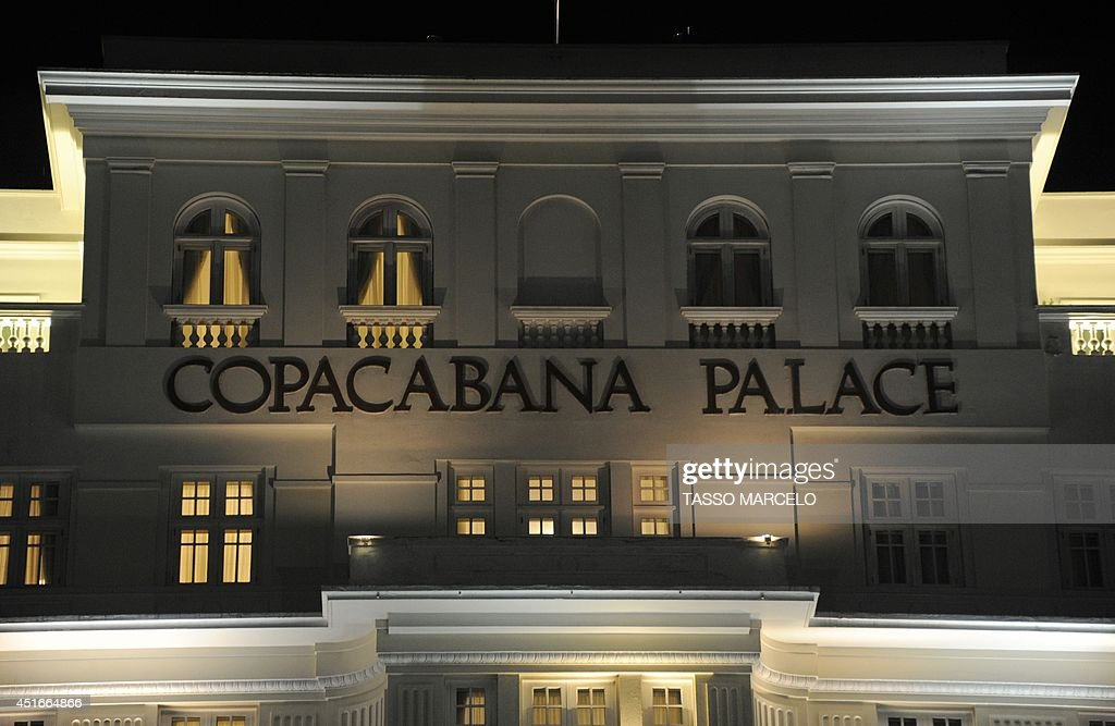 Picture of part of the facade of Rio de Janeiro's Copacabana Palace Hotel, an official FIFA hotel during the World Cup Brazil 2014 taken on July 3, 2014. An illegal ticketing scandal rocked the World Cup on Thursday as Germany and France geared up for a titanic quarter-final showdown. Police probing an international scalping syndicate said thousands of illegally sold tickets worth millions of dollars were believed to have originated from a FIFA individual. The unnamed foreign national was staying at the luxury Copacabana Palace hotel, police commissioner Fabio Barucke said.