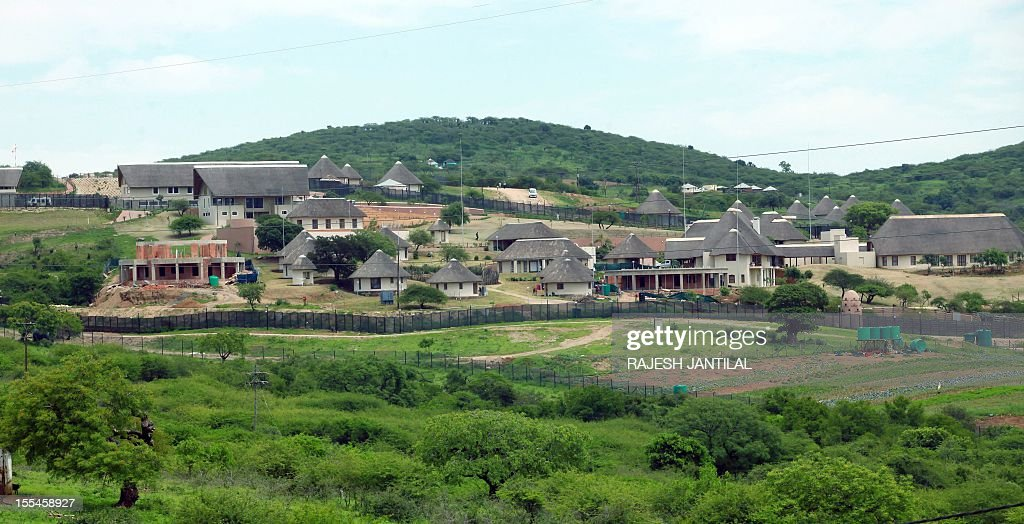 A picture of President Jacob Zuma's private residence in Nkandla, some 178 kilometres north of Durban, on November 4, 2012.The Democratic Alliance (DA) leader Hellen Zille was prevented from inspecting roads around the property and attempt to enter President Zuma's compound.Zuma's private home will reportedly feature underground bunkers,a clinic,a fire station,a special quarter for police and a helipad.The estimated costs for the current upgrade is set to cost 30 million US dollars.The DA has called for an investigations to the funding and upgrading of the Zuma's residence.AFP PHOTO / RAJESH JANTILAL