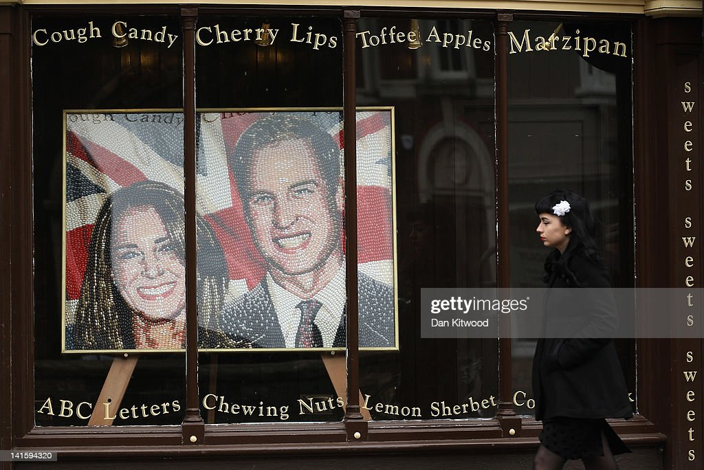 A picture of Prince William, Duke of Cambridge and Catherine, Duchess of Cambridge created from sweets is displayed in a shop on March 13, 2012 in Cambridge, England. Cambridge has a student population in excess of 22,000 spread over 31 different independent Colleges across the city. The city is home to several famous University's, including The University of Cambridge, which was founded in 1209, and is ranked one of the top five universities in the world, King's College Chapel, and Trinity College. Famous alumni have included the likes of Charles Darwin, Isaac Newton, Samuel Pepys and David Attenborough.
