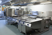 Picture of restaurant kitchen in chrome