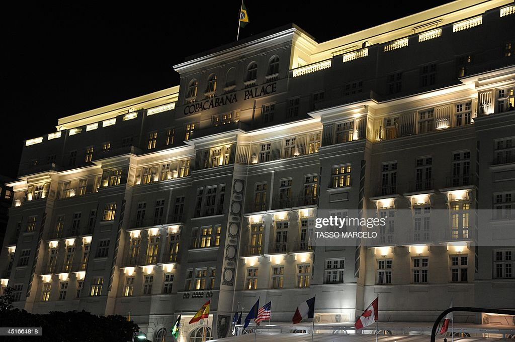 Picture of Rio de Janeiro's Copacabana Palace Hotel, an official FIFA hotel during the World Cup Brazil 2014 taken on July 3, 2014.