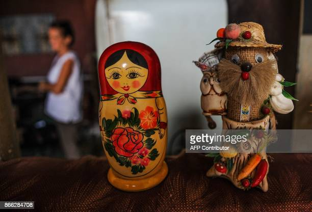 Picture of Russian dolls taken at the house of Russian astronomer Svelana Oparina and her Cuban bioenergetic doctor Eugenio Reyes in Havana on...
