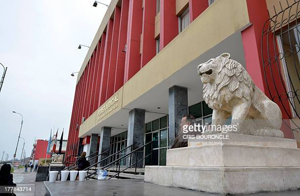 Picture of the Courthouse of Callao where 19yearold Briton Melissa Reid and 20yearold Irishwoman Michaella McCollum Connolly appeared on August 21...