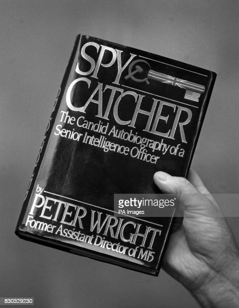 A picture of the front cover of the book 'The Spy Catcher' by Peter Wright