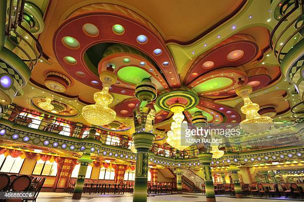 Picture of the function room of a building built in neoAndean baroque architecture known as Cholet style in El Alto Bolivia taken on March 13 2015...