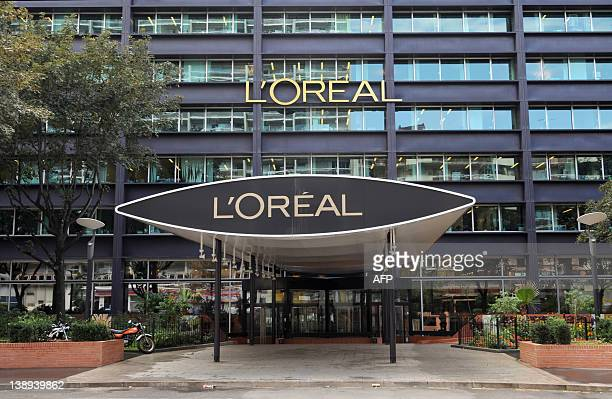 Picture of the headquarters of French group L'Oreal the world's largest cosmetics maker taken on July 23 2010 in Clichy outside Paris AFP PHOTO...