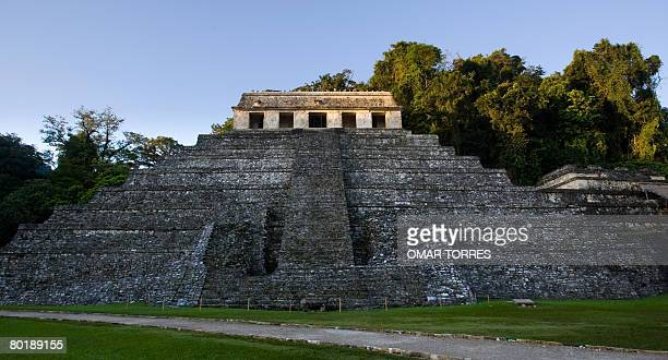 Picture of the Mayan Inscriptions' Palace at the Palenque archaeological site in Chiapas state where the 'Meeting of the Indigenous People to Save...