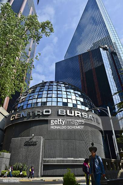 Picture of the Mexican stock exchange in Mexico City on August 24 2015 Stocks in Brazil and Mexico Latin America's two largest exchanges fell sharply...