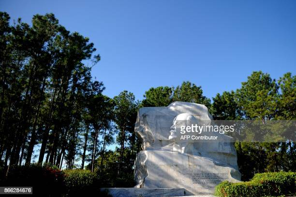 Picture of the monument to Vladimir Ilich Lenin at a park of the same name in Havana taken on October 16 2017 With three decades of close alliance...