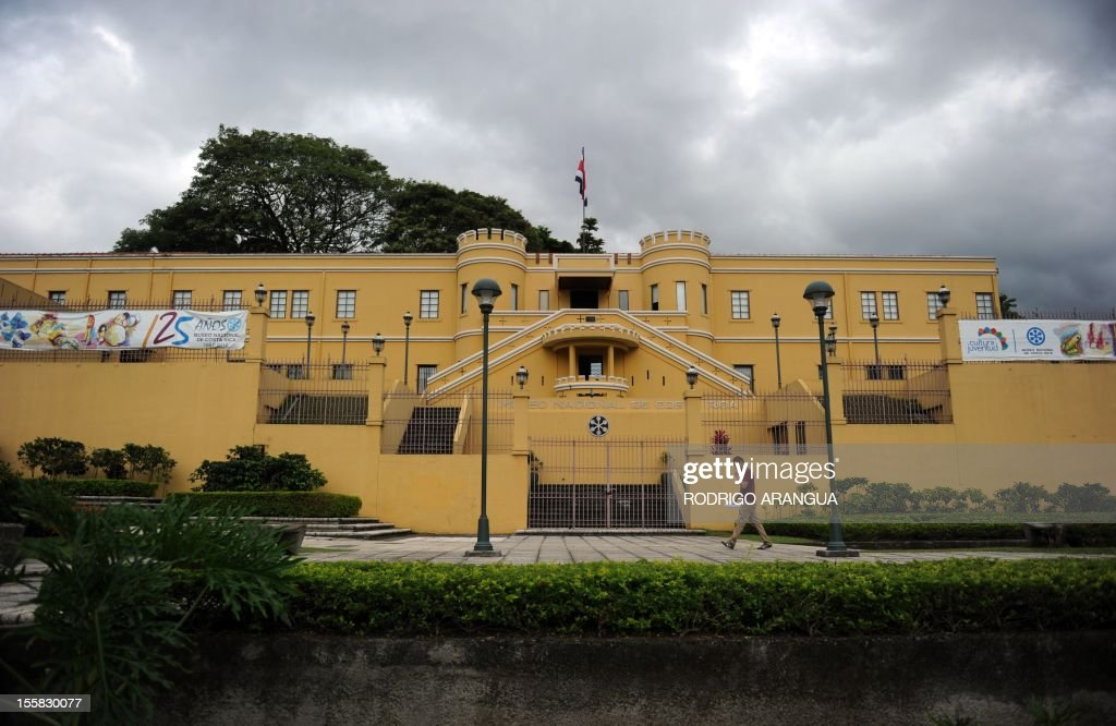 Picture of the National Museum in downtown San Jose, Costa Rica, taken on November 8, 2012. AFP PHOTO/Rodrigo ARANGUA /