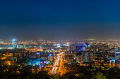 Picture of the night lighting of the city of Almaty