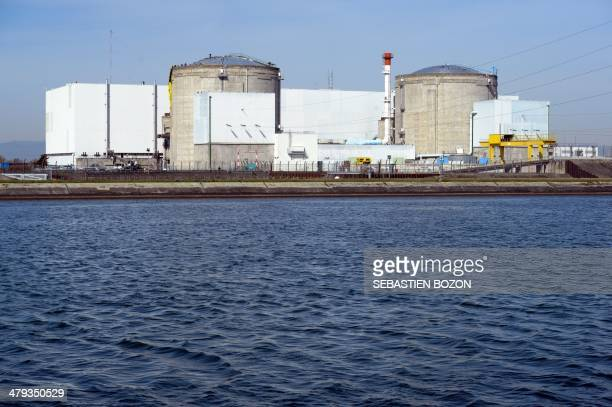 Picture of the nuclear powerplant of Fessenheim Frances oldest atomic plant taken on March 18 2014 More than 60 Greenpeace protesters stormed on...