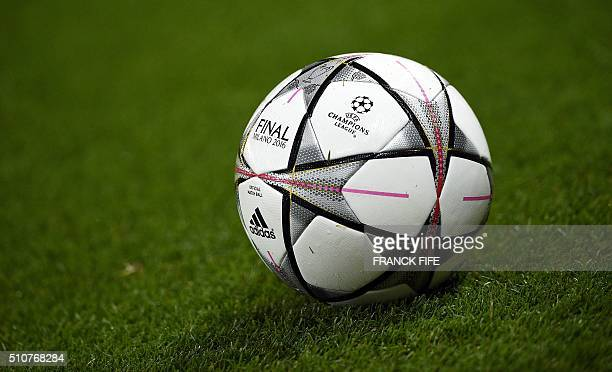 Picture of the official ball during the Champions League round of 16 first leg football match between Paris SaintGermain and Chelsea FC on February...