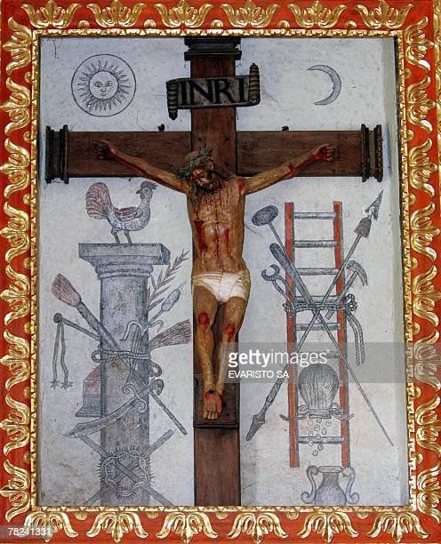 Picture of the statue of Jesus Christ at the altar of the Jesuit Missions' church in San Javier Chiquitos Bolivia some 220 km from Santa Cruz de la...