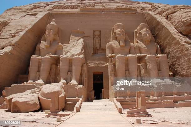 A picture of the statues at Abu Simbel