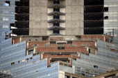Picture of the Tower of David an abandoned skyscraper in Caracas which originally intended to be an office building but became a 'vertical slum'...