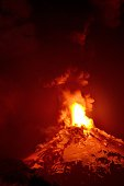 Picture of the Villarrica volcano located near Villarrica 1200 km from Santiago in southern Chile which began erupting on March 3 2015 forcing the...