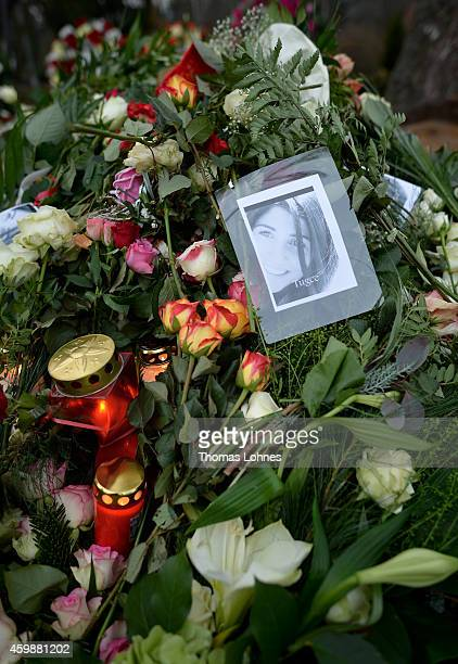 A picture of Tugce and flowers pictured at the grave of Tugce Albayrak the 23yearold university student who died after she was attacked in a...