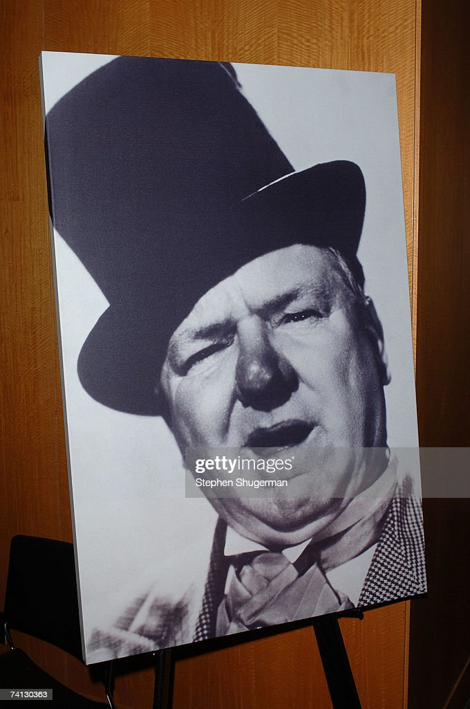 A picture of W.C. Fields is displayed at a celebration of comedic icon W. C. Fields at the Academy of Motion Picture Arts and Sciences on May 11, 2007 in Beverly Hills, California.