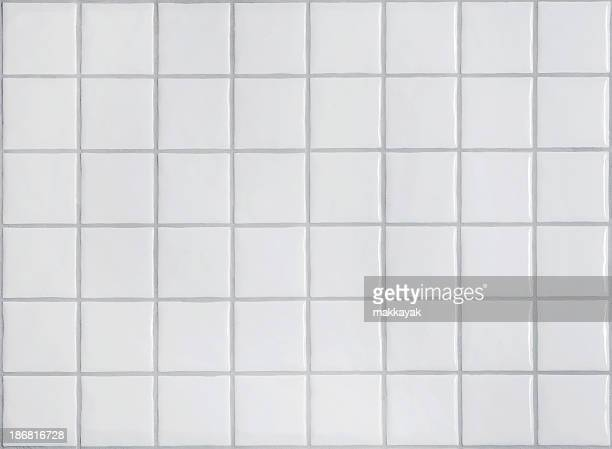 Picture of white tiles in the bathroom