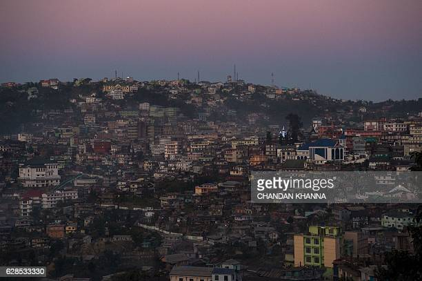 A picture on December 8 2016 shows a view of Kohima capital of the northeastern state of Nagaland / AFP / CHANDAN KHANNA
