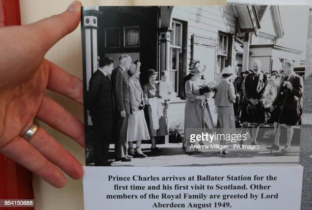 A picture on the wall at Ballater Station which shows Prince Charles arriving at the station for the first time and his first visit to Scotland in...