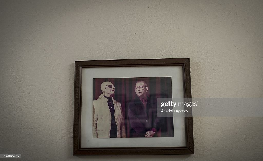 A picture on the wall shows Historian of the Cuban National Ballet Dr. <a gi-track='captionPersonalityLinkClicked' href=/galleries/search?phrase=Miguel+Cabrera&family=editorial&specificpeople=202141 ng-click='$event.stopPropagation()'>Miguel Cabrera</a> (R) and Founder of the Cuban National Ballet <a gi-track='captionPersonalityLinkClicked' href=/galleries/search?phrase=Alicia+Alonso&family=editorial&specificpeople=217756 ng-click='$event.stopPropagation()'>Alicia Alonso</a> at The Cuban National Ballet (Nacional Cubana de Ballet) in Havana, Cuba on February 11, 2015. The Cuban National Ballet, found by <a gi-track='captionPersonalityLinkClicked' href=/galleries/search?phrase=Alicia+Alonso&family=editorial&specificpeople=217756 ng-click='$event.stopPropagation()'>Alicia Alonso</a> in 1948, host ballet dancers at a building which has a colonial architecture in Vedado district of the city. Ballet, as an art, had became an important field of art with the Fidel Castro's revolution as well as it gained reputation around the world.