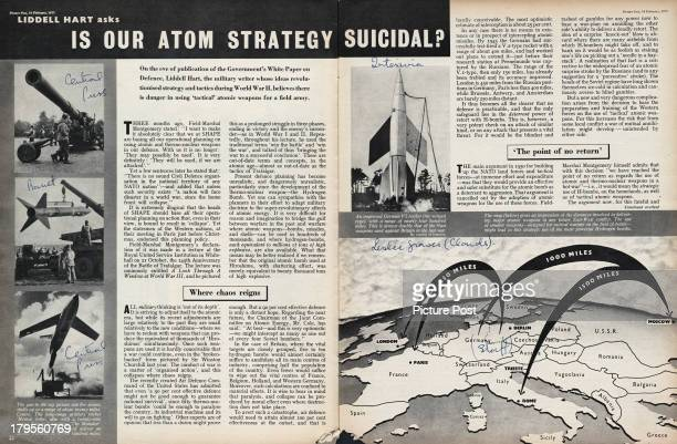 A Picture Post magazine article by Liddell Hart entitled 'Is Our Atom Strategy Suicidal' in which Hart warns of the dangers of using tactical atomic...