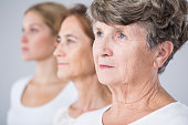 Picture presenting three beauty women - aging process