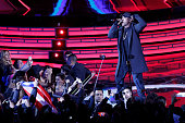 Puerto Rican singer Don Omar performs during at the 57th of the song festival in Vina del Mar Chile on February 27 2016 / AFP / ATON CHILE / LUIS...