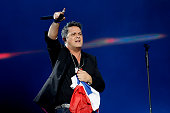 Spanish singer Alejandro Sanz performs at the Vina del Mar song festival in Vina del Mar Chile on February 24 2016 AFP PHOTO /Aton Chile Luis Collao...