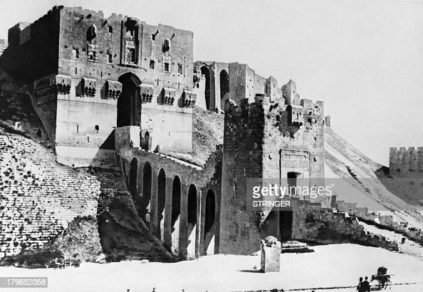 Picture released in the 30s of the Citadel of Aleppo Syria