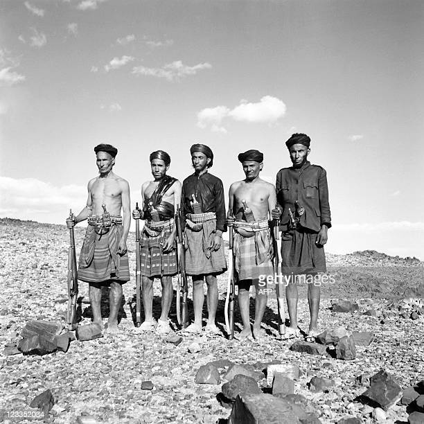 Picture released in the 60s of Yemeni fighters belonging to the South British protectorate A civil war started in the 60s between Republicans of...