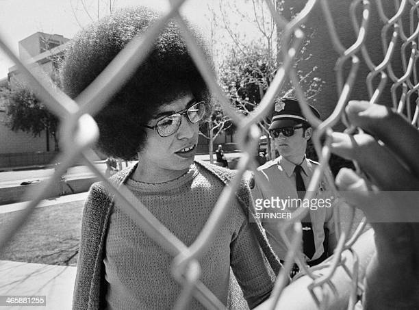 Picture released on April 1972 of US communist militant Angela Davis arriving at the court for her trial in San Jose Angela Davis was acquitted on...