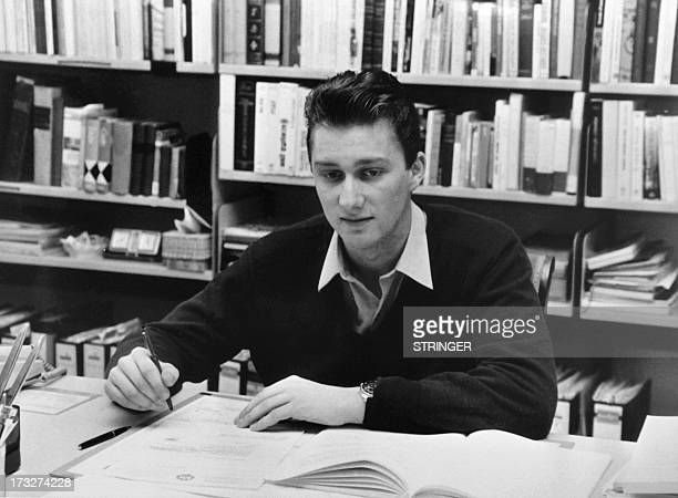 Picture released on April 1981 of Crown Prince Philippe of Belgium working at his desk Prince Philippe of Belgium is the eldest child and eldest son...