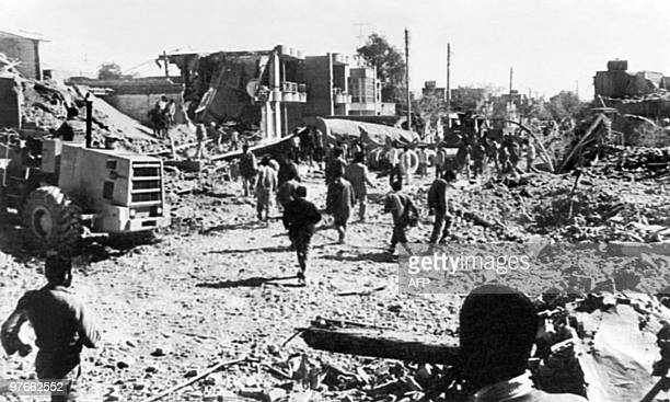Picture released on February 11 1984 of the devasted city of Dezful by Iraki raids on Iran during IranIraq war