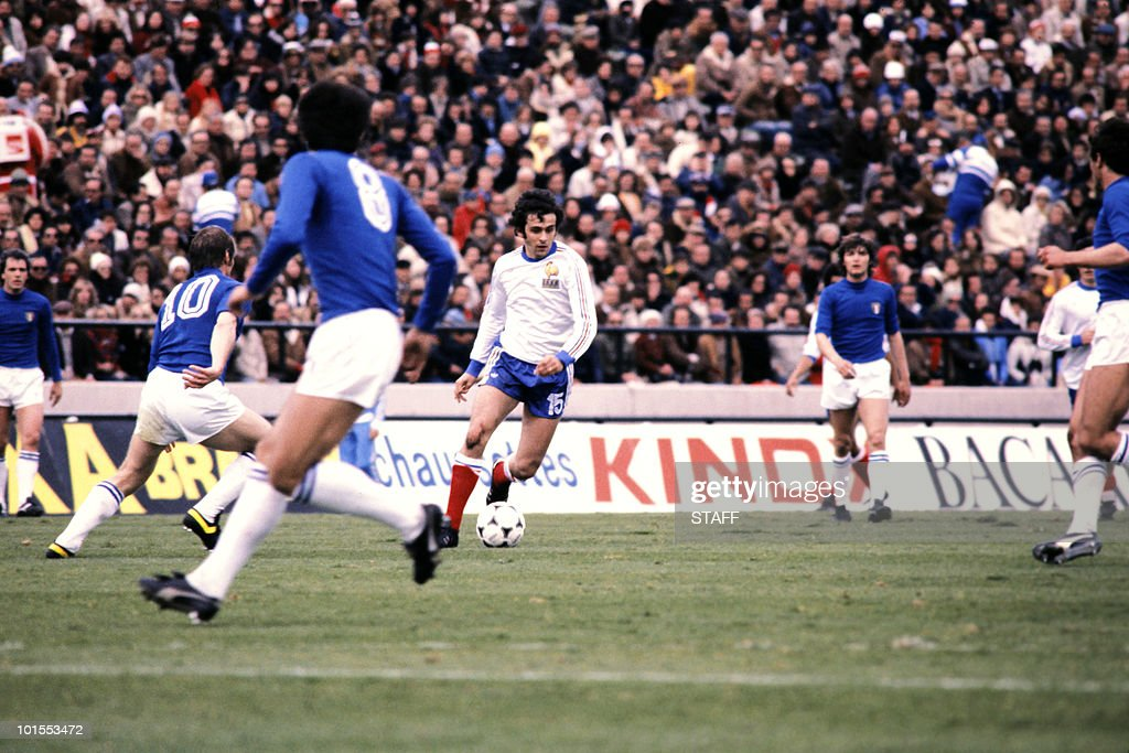 Picture released on June 02, 1978 during the World Cup first round soccer match between Italy and France in Mar del Plata.