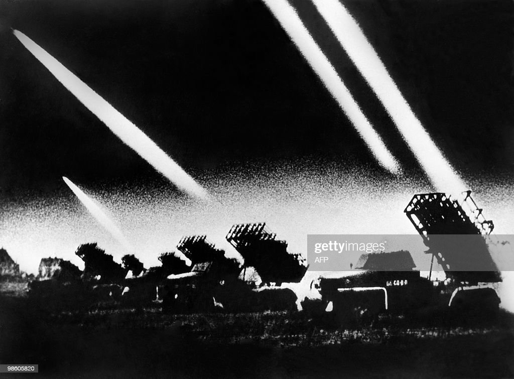 Picture released on June 22 1941 of Soviet rocket launchers as Nazis attacked the USRR