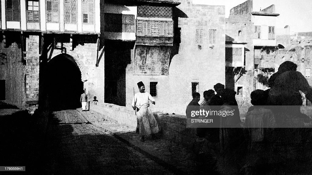 Picture released on March 19, 1936 showing the Palace of Keilani, in Hama. / AFP / STRINGER
