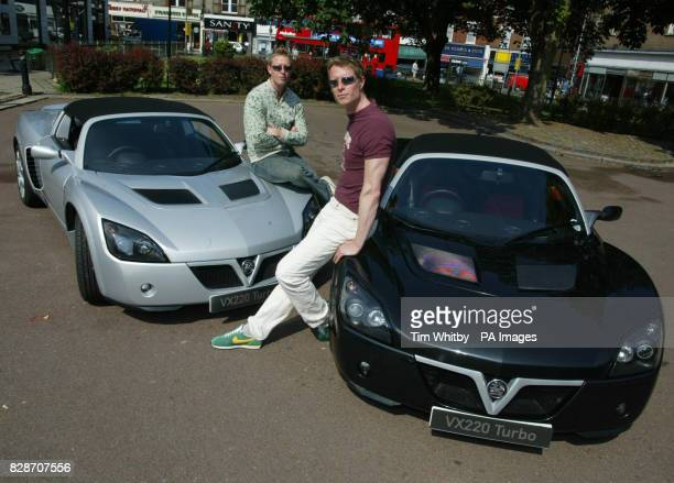 Picture released Thursday 29 May 2003 of the Matrix Reloaded's 'Evil Twins' actors Neil Adrian Rayment taking delivery of their new Vauxhall VX220...