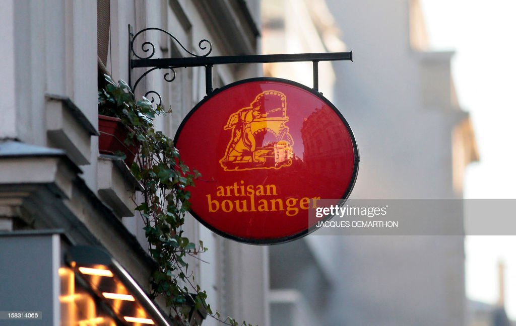 A picture shows a bakery's sign on December 12, 2012 in Paris' 16th disctrict.