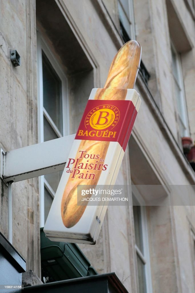 A picture shows a bakery's sign on December 12, 2012 in Paris' 2nd district. AFP PHOTO/JACQUES DEMARTHON