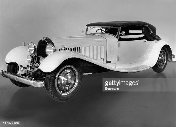 Picture shows a Bugatti Royale Type 41 Retouched undated photo from the Henry Ford Museum