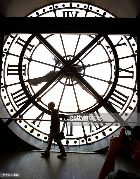 A picture shows a clock taken from inside of the Orsay museum on April 19 2016 in Paris France The clock of the Orsay museum is one of the few...