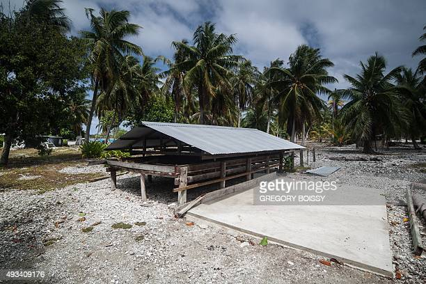 A picture shows a copra drying rack at the Toau atoll about 400 kilometres from Tahiti in the Tuamotu Archipelago in the French polynesia on October...